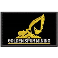 GOLDEN SPUR MINING SEW ON PATCH